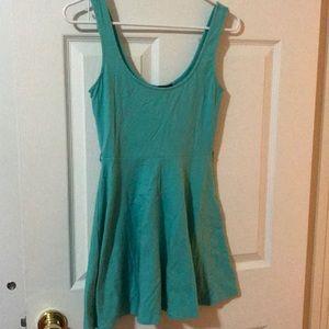 Turquoise skater dress